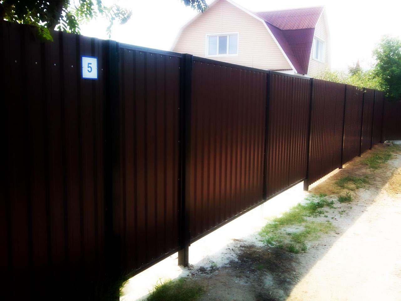заборы и ворота из профнастила фото и цены в тюмени